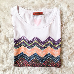 Missoni Multi Color 100% Cotton Chevron Print MedNWT, used for sale